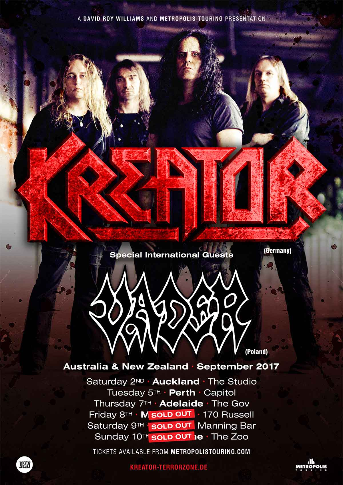 Kreator With Special Guest Vader | DRW Entertainment