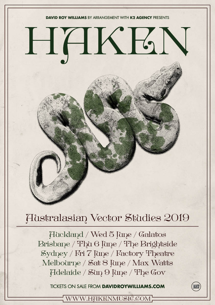 Haken Australasian Vector Studies Australian And New Zealand Tour