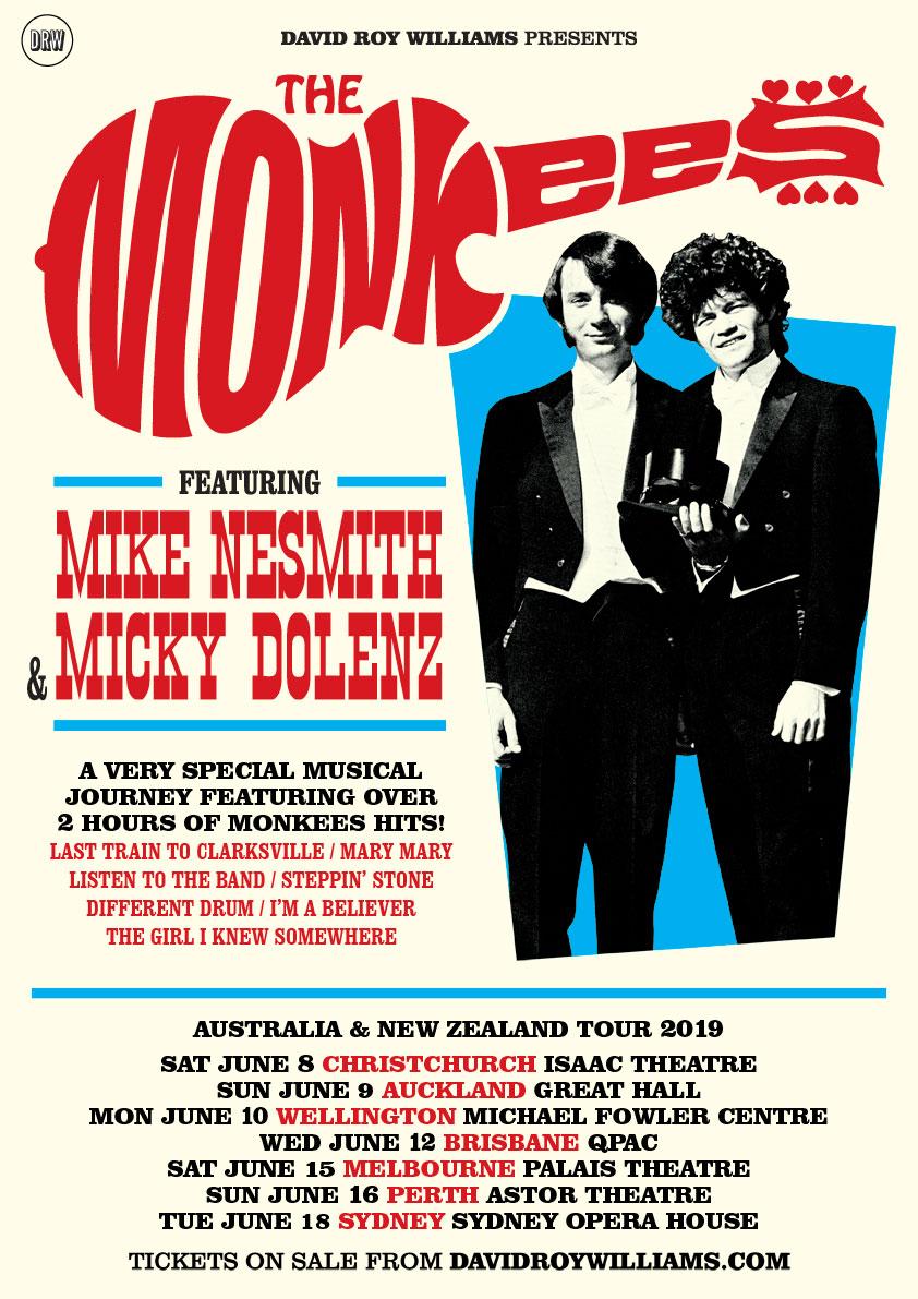 THE MONKEES – AUSTRALIA & NEW ZEALAND TOUR 2019 | DRW